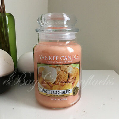Yankee Candle ~  PEACH COBBLER ~ *Free Shipping* 22oz Large Jar