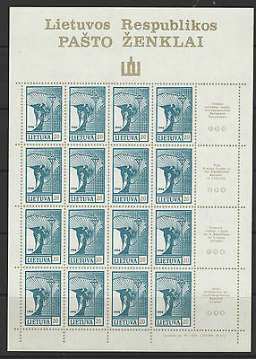 Lithuania 1990 set of 4 in imperf sheetlets of 16 plus labels mint