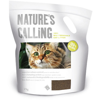 Natures Calling Biodegradable Cat Litter 2.7kg