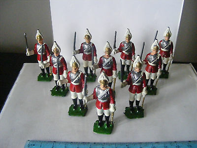 VINTAGE TOY SOLDIERS probably TIMPO (?) LEAD METAL LIFE GUARD x 10 - JOB LOT