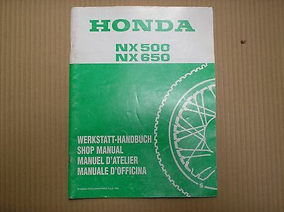Honda 650 NX650 Dominator genuine service manual ADDENDUM 66MAN0T + wiring dia