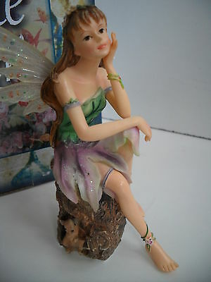 """Faerie Glen Woodland Fairy """"solityme """" Pretty Fairy With Squirrel Boxed"""