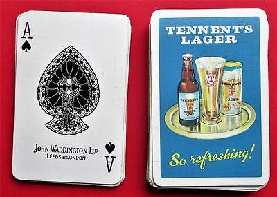 Tennents Lager Full Pack John Waddington  Playing Cards