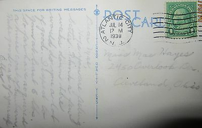 1938 1 Cents Franklin  United States Of America Post Card Used.