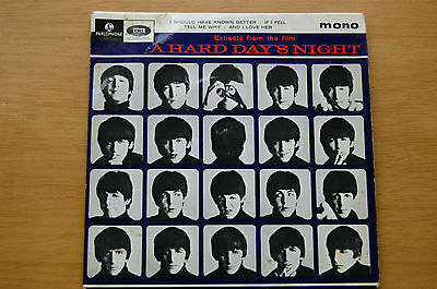 """The Beatles A Hard Day's Night 1964 Vinyl 7"""" EP I Should Have Known Better etc."""