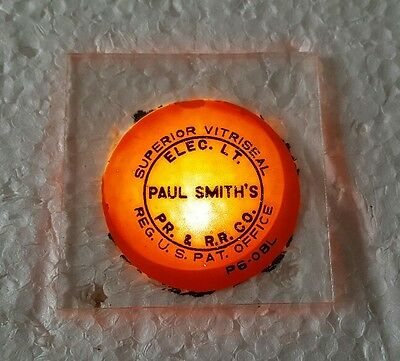 VTG Vitriseal Paul Smiths NY Electric Light Power Railroad Co. Meter Pane Glass