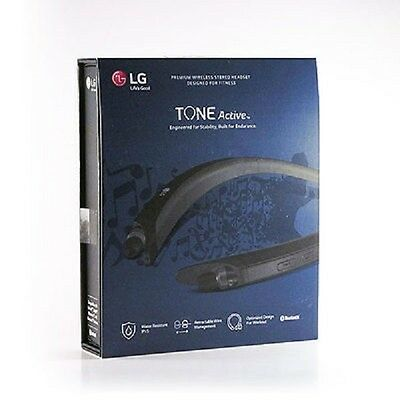Genuine LG HBS-A80 TONE ACTIVE Wireless Bluetooth Stereo Headset - Black