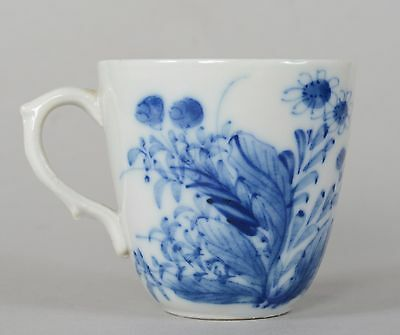 c1750 Antique Chinese Export Porcelain Cup Free Flowing Flowers Qianlong