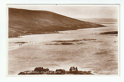 The Narrows Kyles Of Bute 1932 Real Photograph Valentines 218973 Scotland