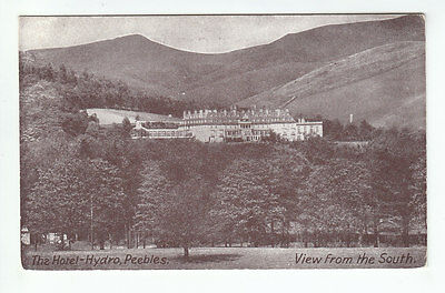 The Hotel Hydro Peebles Hydropathic c1930's Old Postcard Postally Unused