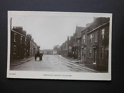 "Yorkshire 1924 ""Northgate Market Weighton"" Real Photo Kingsway Postcard posted"