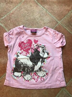 Disney Baby Girls Lady And The Tramp Pink T-shirt Summer Top 9-12 Months