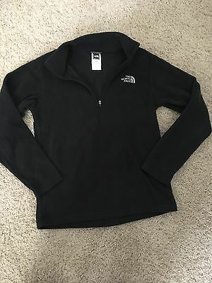 KIDS Youth The North Face Black Fleece Fall Winter Jacket Sz Boys Girls M
