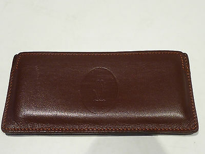 Cartier brown leather pouch