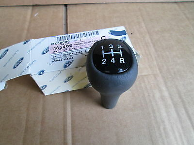 New Genuine Ford Leather Gear Change Lever Knob Black 5 Speed Manual IB5 1135400