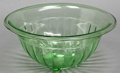 FEDERAL/HOCKING Green Depression Glass Ribbed Rolled Edge Mixing Nesting Bowls
