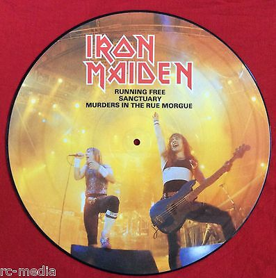 "IRON MAIDEN -Running Free- Rare UK 12"" Picture Disc (Vinyl Record)"