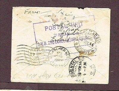 India Experimental P.o. Returned Troop Movement Airmail Well Travelled  (Jny20