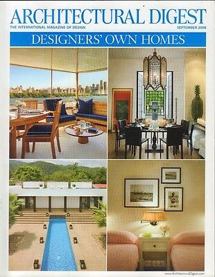Architectural Digest September 2008 Designers' Own Homes 021417DBE3