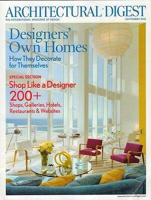 Architectural Digest September 2010 Designers' Own Homes 021417DBE3