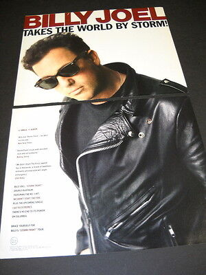 BILLY JOEL Takes The World By Storm 1989 TWO PIECE Promo Display Ad