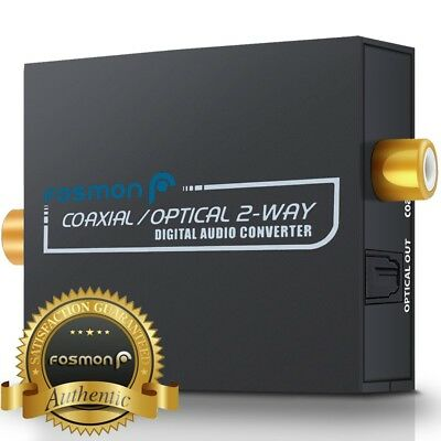 Coaxial to Toslink / Toslink to Coaxial Converter 2-Way Digital Audio Switcher