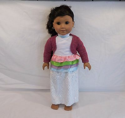 Pleasant Company American Girl Josefina Long Dark Hair plus Earrings