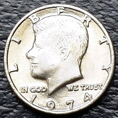 Vintage Novelty Miniature 1974 Kennedy Half Dollar 50c Coin - Free Combined S/H