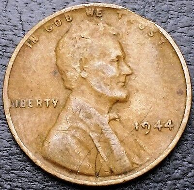 1944 Lincoln Wheat Cent ***Clipped Planchet Error Coin*** Free Combined Shipping