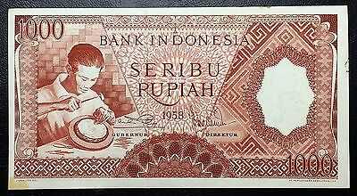 INDONESIA: 1958 1000 Rupiah Banknote, P-61 **RARE** - Free Combined S/H