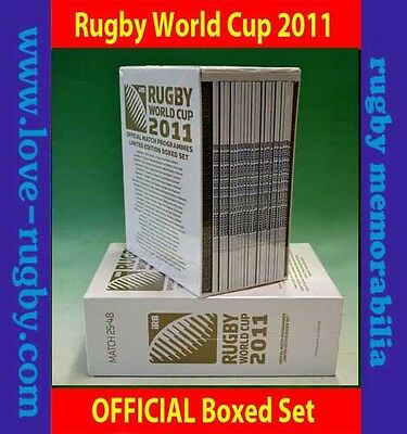 2011 - RWC Programmes - OFFICIAL Boxed Set 48x Rugby World Cup Ireland England a