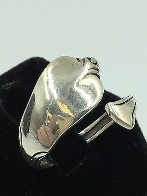 YES GUITAR SPOON RING 6 GRAMS AllGenuine Sterling Silver.925 Size 7,8,9,10,11,12