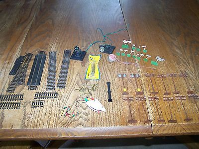 TYCO TRAIN TRACK and ACCESSORIES PARTS LOT ASSORTED VINTAGE HO
