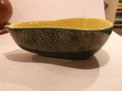 2 X Green Ceramic Avocado Dishes - Lovely Retro In Great Condition-Free Uk Post