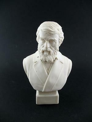 19thC Antique Robinson Leadbeater R&L Parian Ware Bust - Thomas Carlyle - 7.75""