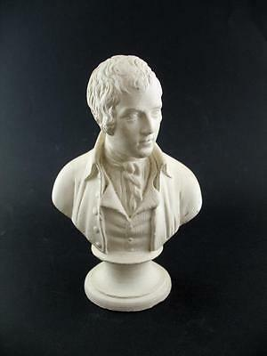 "Vintage Chalkware Plaster Bust Robert Burns - 8.5"" HIgh"