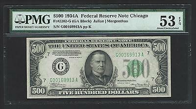 1934A $500 Five Hundred Dollar Bill Currency Cash Note Money PMG AU 53 EPQ