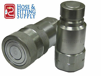 """Hydraulic Quick Couplings -Flush Face/Flat Face Set #10 SAE ORB 1/2"""" BODY"""