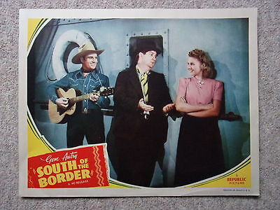 Vintage Film Poster, Gene Autry In South Of The Border, C1930S.