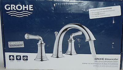 GROHE Chrome 2-Handle Widespread Bathroom Faucet (Drain Inluded) Model 20475
