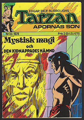 1974 Swedish Vintage Tarzan Comic 1974 #23 Fn