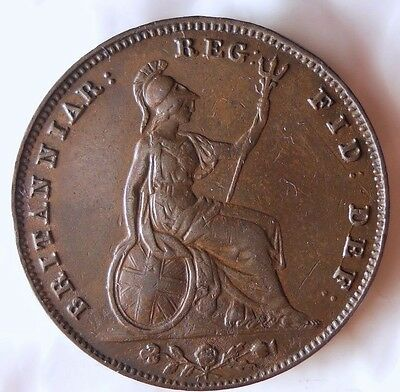 1856 GREAT BRITAIN FARTHING - XF/AU Scarce - FREE SHIP WORLDWIDE - HV26