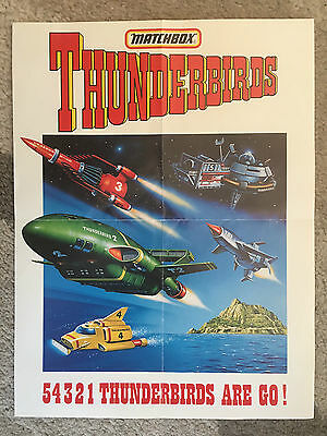 Thunderbirds Matchbox Promo Poster Gerry Anderson 1992
