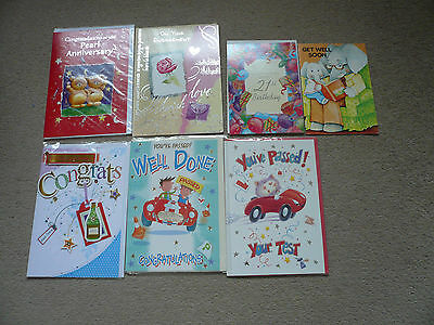 7 mixed greeting cards new