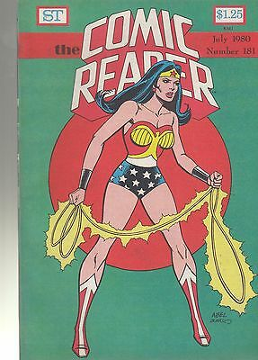 COMIC READER #181 fanzine (1980) Wonder Woman Batman Penguin covers