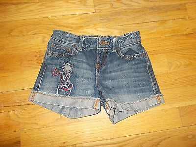 Old Navy Cute Denim Shorts With Adjustable Waistband Size 7 Girls