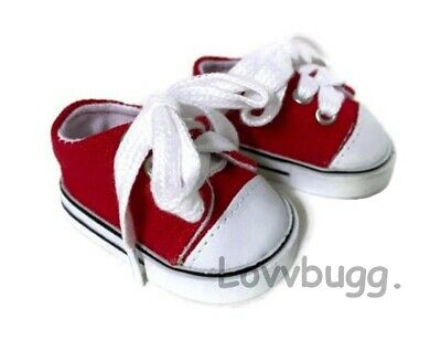 """Red Tennis Sneakers Doll Shoes for 18"""" American Girl  Widest Selection Online"""