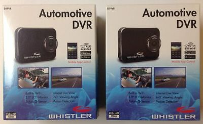 2 LOT WHISTLER D19VR AUTOMOTIVE HD Wi-Fi DVR DASH CAM You Tube VIDEO RECORDER