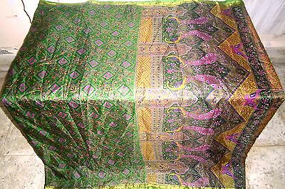 Green Magenta Pure Silk 4 yd Vintage Sari Saree Girl special offer PROMO #ADU8O
