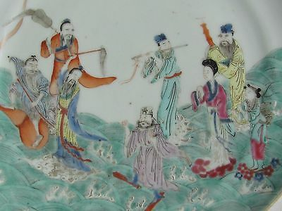 Antique Chinese Qing Dynasty Famille Verte Porcelain plate